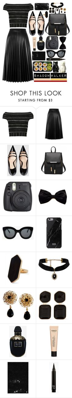 """Shadow Walker"" by atarituesday ❤ liked on Polyvore featuring Alexander McQueen, Aviù, Gucci, CÉLINE, Native Union, Jaeger, Dolce&Gabbana, Kenneth Jay Lane, Universal and Yves Saint Laurent"