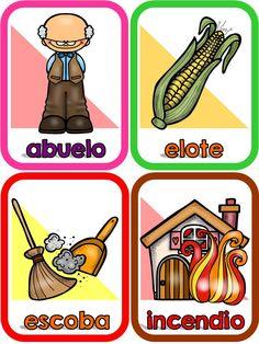 Más de 50 Súper tarjetas para trabajar las vocales -Orientacion Andujar Baby Learning, Learning Centers, Learning Spanish, Early Childhood Education, School Colors, Future Classroom, Phonics, Literacy, Homeschool