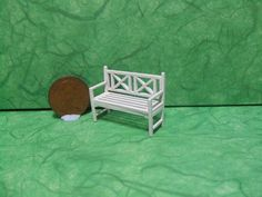 Quarter Scale, Seat, 1/48th Scale, Garden Seat, 1/4 Inch Scale, Bench…