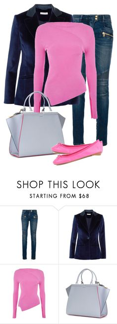 """""""Untitled #715"""" by indirareeves on Polyvore featuring Balmain, Altuzarra, Topshop, Fendi and ANNA BAIGUERA"""