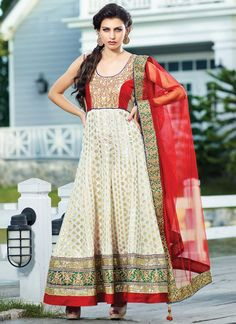 Hairstyle on anarkali dresses