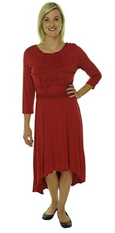 Studio M Asymmetrical Hem Textured Sheath Dress Cherry L *** Be sure to check out this awesome product.