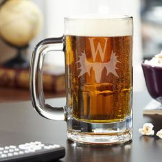 Manly man's beer mug