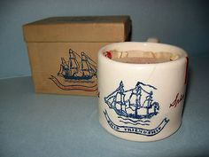 Old Spice Mug with original shaving soap. Candle Jars, Candle Holders, Candles, Old Spice, Safety Razor, Shaving Soap, Atomic Age, Vintage Stuff, Spices