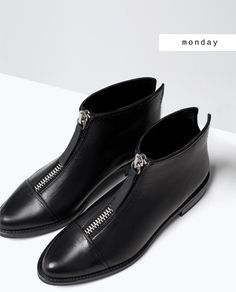 s p r n 1 3 zara ankle boots Me Too Shoes, Shoe Boots, Shoes Sandals, Dress Shoes, Heels, Zara Ankle Boots, Black Booties, Ankle Booties, Black Shoes