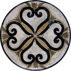 Items similar to Medallion Backsplash Stone Mosaic Marble Wall or Flooring Decor Design - Flowers - sun head - Medusa head - round medallion on Etsy Marble Wall, Marble Mosaic, Stone Mosaic, Mosaic Wall, Mosaic Glass, Mosaic Tiles, Stained Glass, Mosaic Art Projects, Mosaic Crafts
