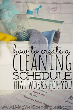 While it might seem overwhelming at first, a cleaning schedule can actually make keeping your house clean a whole lot easier!  In just 3 easy steps, this super helpful post shows you exactly how to create a personalized cleaning schedule that will work for your own home.  There are even free printables for four different types of cleaning plan! Personal Care, Soap, Bottle, Cleaning Hacks, Self Care, Body Care, Flask, Cleaning Tips, Jars