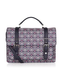 Geo Butterfly Printed Kensington Satchel Bag | Multi | Accessorize