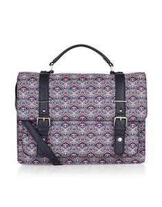 Geo Butterfly Printed Kensington Satchel Bag | Multi | Accessorize