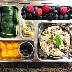 Last lunch of the week! Mushroom risotto, olives, tomatoes, cucumbers, and fruit.   #lunch #bento #bentobox #organic #organicfood #healthy #healthyfood #healthykids #healthylife #healthyeating #Healthyfamily #instafood #bentolunch #instafoodie #eattherainbow #lunchideas #mealprep #healthychoices #huffposttaste #foodpic #foodie #balancedlunch #feedfeed #orlandoeats #healthymeals #kidslunch #balancedmeal #planetbox #kidsnutrition #healthychildren