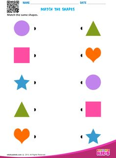 edubuzzkids - Printable shapes worksheets for kids & preschoolers. These preschool help kids to recognize and match the shapes square, circle, triangle etc. Shape Worksheets For Preschool, Free Kindergarten Worksheets, Shapes Worksheets, Preschool Learning Activities, Preschool Printables, Toddler Worksheets, Printable Shapes, Help Kids, Homework For Preschoolers