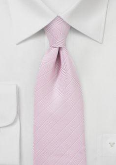 Stylische Businesskrawatte Linienkaro rose
