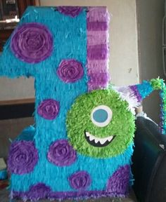 Monster Inc Pinata Monster 1st Birthdays, Monster Inc Party, Monster Birthday Parties, First Birthdays, Pinata Ideas, Monsters Inc Baby, Little Monster Party, Boy First Birthday, Fiesta Party