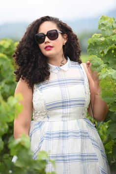 Plaid dress in Napa Valley