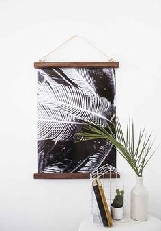 This half-framed hanging print.                                                                                                                                                                                 More