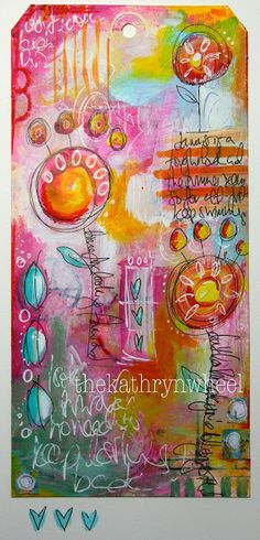 Art journaling for a new year. (The Kathryn Wheel)