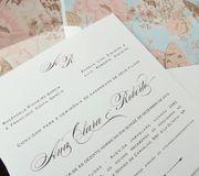 Convite de casamento clássico e romântico