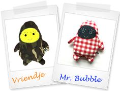 Hip & Blizz 'Mr. Bubble' hippe knuffels