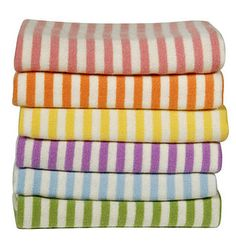 cashmere candy stripe baby blanket