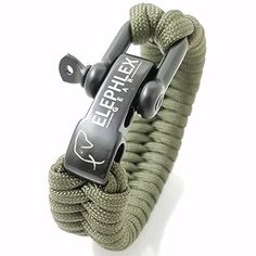 ELEPHLEX FISH TAIL Survival Paracord Bracelet Tactical Gear 8 Inch 550lbs 4mm 7 Strands Army Green -- Continue to the product at the image link.Note:It is affiliate link to Amazon.