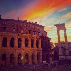 I tramonti infuocati di Roma @TrastevereRM @I__Love__Italy @SaiCheARoma