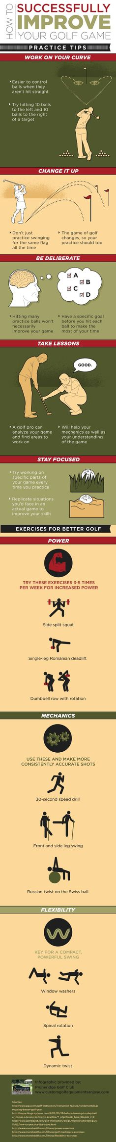 It is easier to control golf balls when they aren't hit straight. That is why it is important to work on your curve! Find more tips for improving your golf game by reading through this infographic!