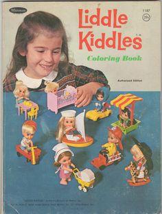 WHITMAN: 1966 LIDDLE KIDDLES Coloring Book