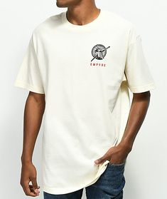 18df3602 Empyre Strike In Silence Cream T-Shirt Cream Clothing, Cream T Shirts, Tee