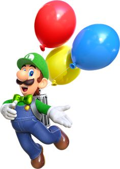Luigis Balloon World💓💓😍😍😍😍😍😍😍😍😍😍😍😍😍😍😍 Super Mario Bros, Super Mario World, Super Mario Brothers, Super Smash Bros, Mario Kart, Mario Y Luigi, Mario Free, Amazon Coloring Books, Nintendo Party