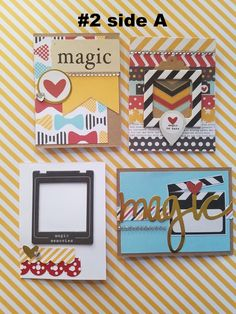 Disney Project Life style cards, handmade using Simple Stories Say Cheese 1 & 2, Echo Park Magical Adventure