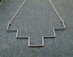Geometric Sterling Necklace. $40.00, via Etsy.