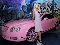 Paris Hilton brings out her inner Barbie with a pink Bentley | The Luxury Post