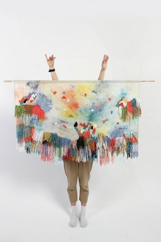 ilovereveiller:     This wall hanging, by Andrea Shaw of Stampel, for Dagmar Rousset. Nuff said.