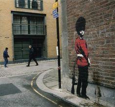 Banksy. Great grafitti artist