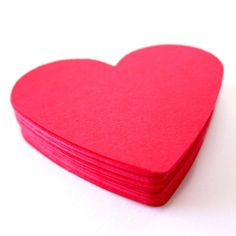 Set of 25  2 1/2 inches wide  RED  Large Hearts  by HelloDonna, $2.99