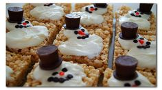 Melting Snowman Rice Krispie Treats--Super Cute & Very Easy to make!! The kids would love these!! I've seen the Cookie Version, but these are much easier to make!!   Recipe Here: http://thereckes.blogspot.com/2010/12/tis-season.html