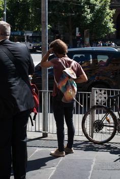 http://chicerman.com  meninthistown:  Tie-dye.  #streetstyleformen