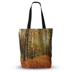 """Sylvia Cook """"Autumn Leaves"""" Rustic Everything Tote Bag from KESS InHouse"""