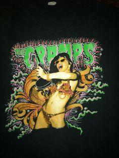 Vintage Original The Cramps Stay Sick 1990 Tour Shirt Psychobilly X-Large Punk