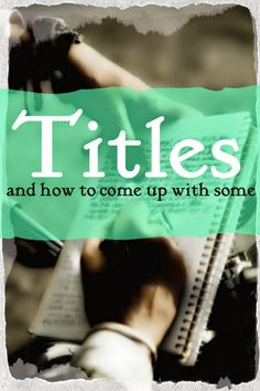Onions, Lemons and Apples: Writing Things #3: Titles http://saphira-lemons.blogspot.com/2015/04/writing-things-3-titles.html