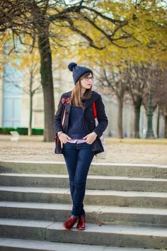 Mode and The City - Blog mode et lifestyle // tartan navy blue red #mellowyellow #petitbateau
