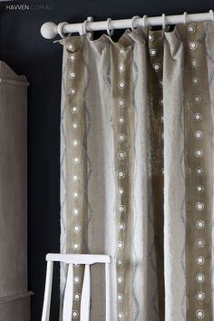 How to Dye and Stencil Curtains Using Chalk Paint® decorative paint by Annie Sloan | Tutorial via Havven