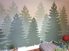 More Like Home: DIY Forest Mural (great for a boy's room!)