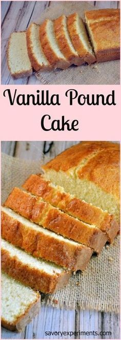 Recipe- Every home cook needs a classic vanilla pound cake recipe. This one is hands down THE BEST! Perfect Pound Cake Recipe, Vanilla Pound Cake Recipe, Pound Cake Recipes, Easy Cake Recipes, Dessert Recipes, Pound Cakes, Strawberry Shortcake Pound Cake Recipe, Strawberry Frosting, Vanilla Cake