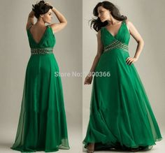 2014 Elegant Emerald Green Prom Long Dress Plus Size A Line Spaghetti Beaded Chiffon Evening Gown Formal Party Dresses Vestidos
