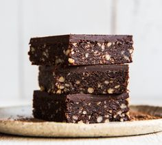 Baked Medjool Date Chocolate Brownie Baked Chocolate and Walnut Brownie ~ Wholefood Simply Simply Recipes, Sugar Free Recipes, Baking Recipes, Sweet Recipes, Whole Food Recipes, Raw Recipes, Freezer Recipes, Chocolate Slice, Chocolate Brownies
