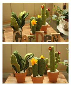 Felt cactus garden
