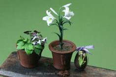 Make Tiny Easter Lilies: Make Miniature Easter Lilies in Dolls House Scales