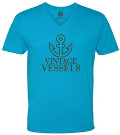 Vintage Vessels Anchor (Brown) Short-Sleeve V-Neck T-Shirt