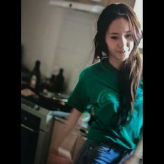 Indoor Photography, Krystal Jung, Girl Crushes, Kendall, Ruffle Blouse, Singer, Super Star, Actresses, T Shirts For Women